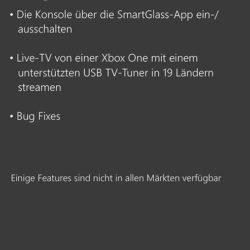 Xbox One SmartGlass Update