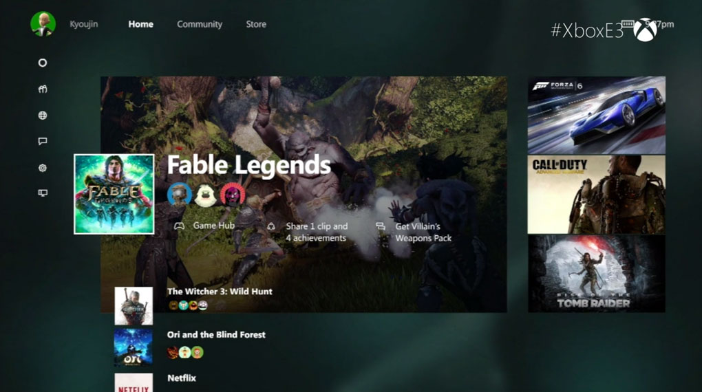 Xbox One Dashboard 2015