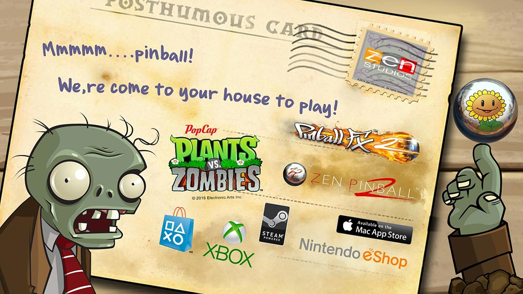 Pinball FX2: Plants vs. Zombies