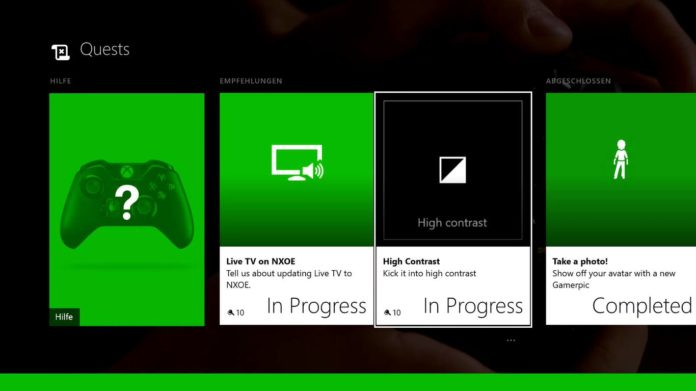Xbox One Preview - Hoher Kontrast
