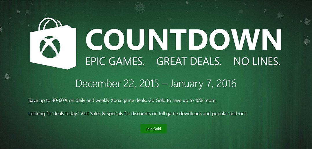 Xbox Countdown Sale 2015