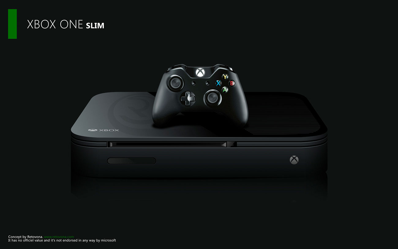 Xbox One Slim - Mock Up