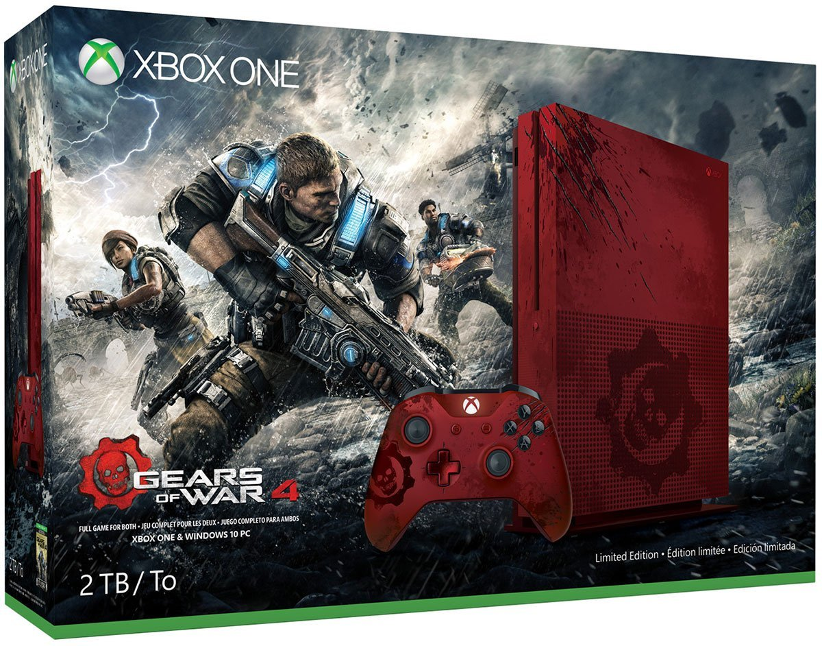 Xbox One S Gears of War 4 Limited Edition offiziell