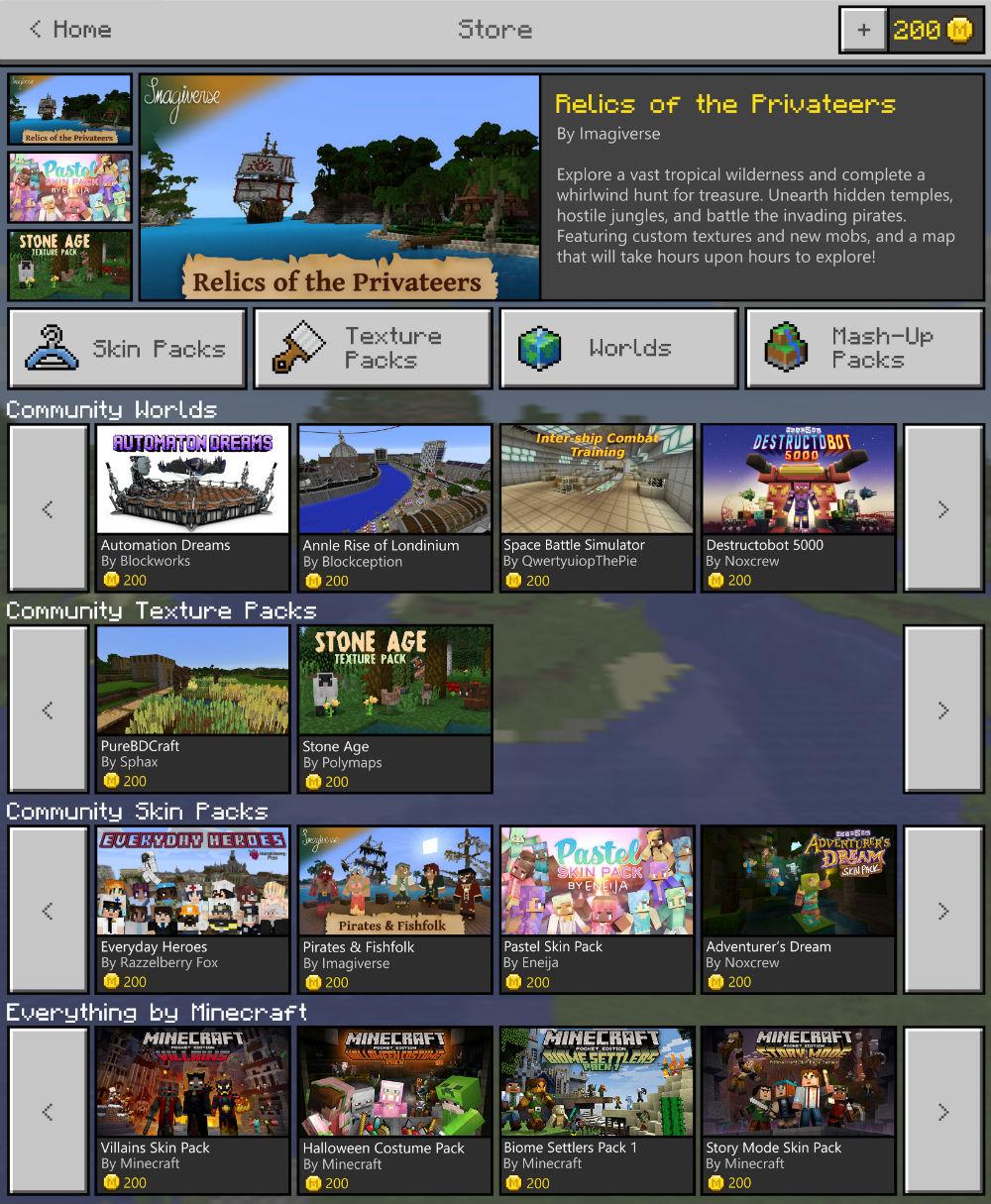 Minecraft Marketplace Und Discovery Update Verfügbar - Minecraft spieler skin suchen