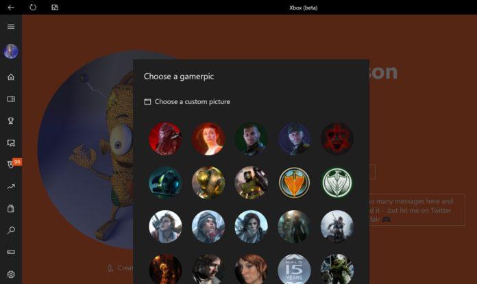 Xbox Beta App - Eigenes Gamerpic