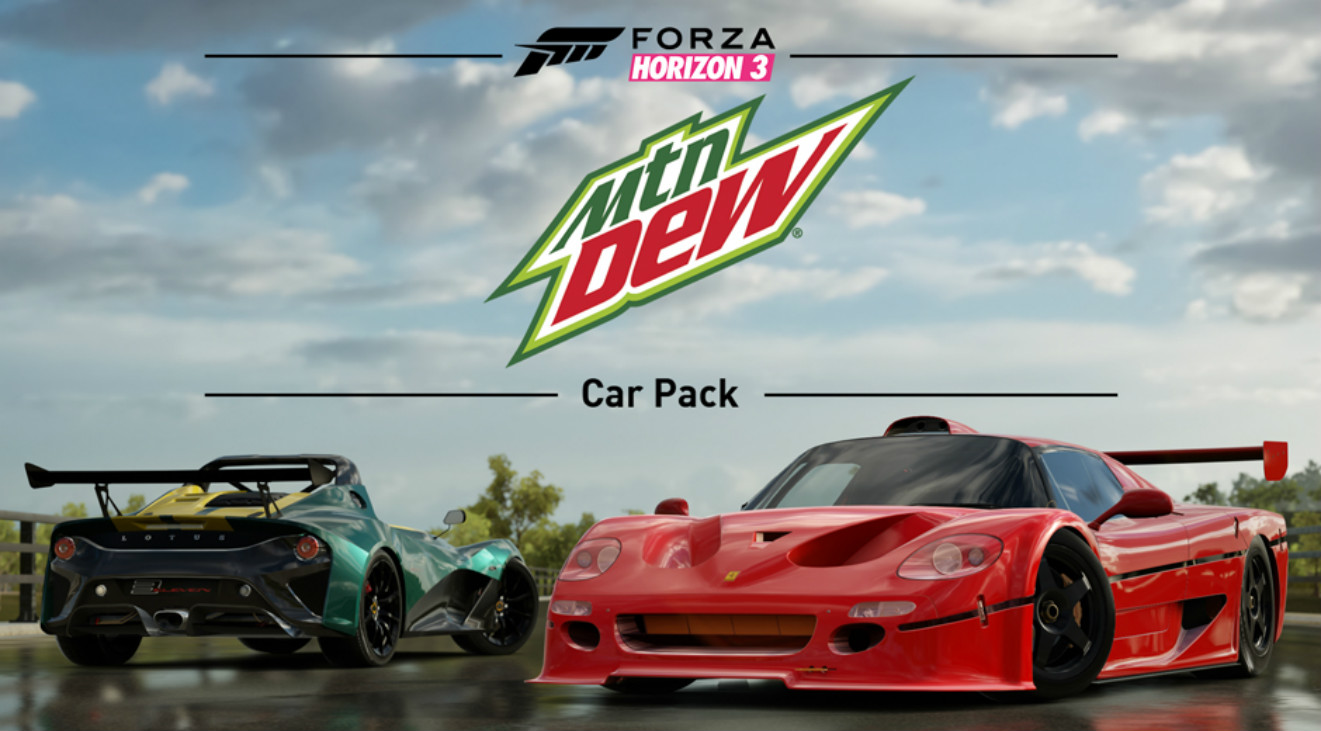 forza horizon 3 mountain dew car pack erscheint heute f r. Black Bedroom Furniture Sets. Home Design Ideas