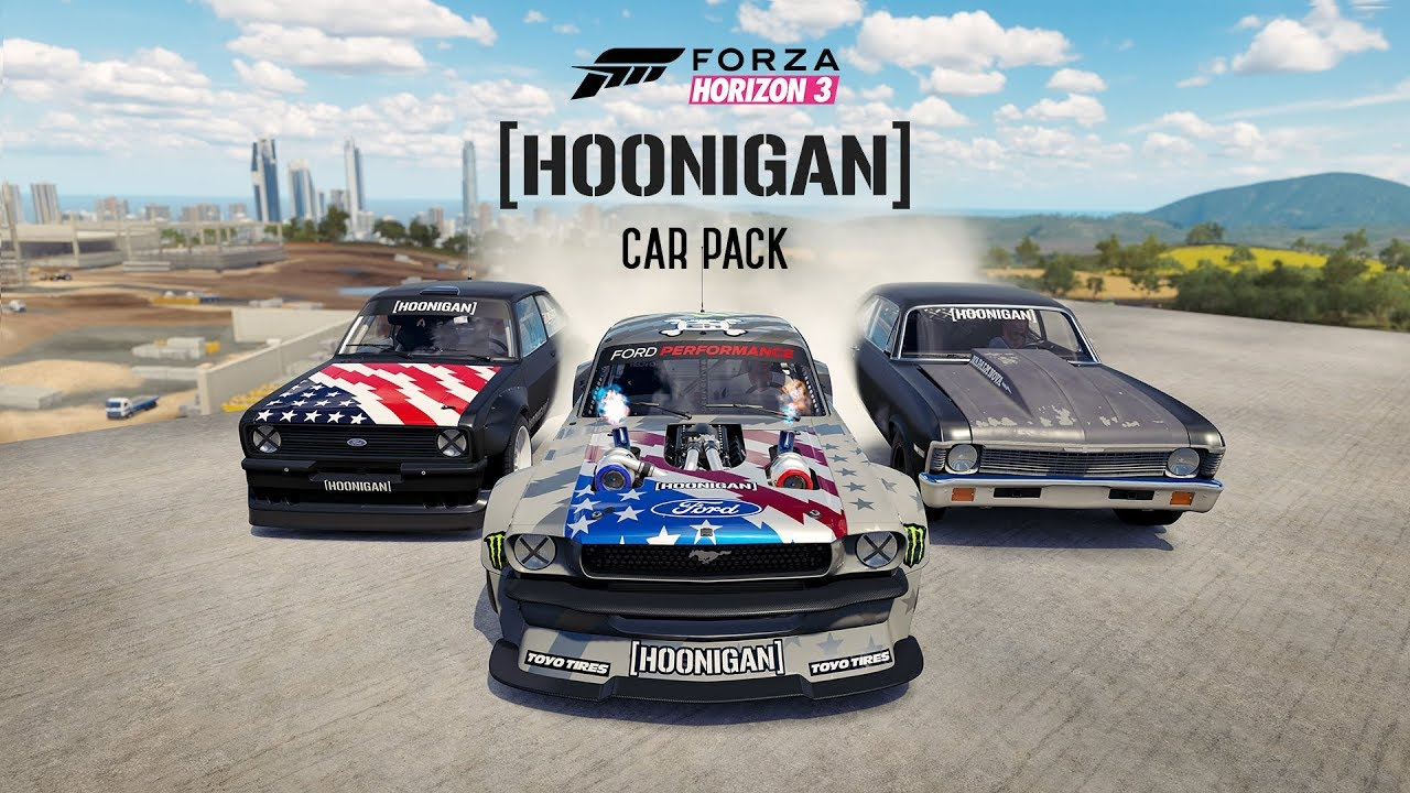 forza hoonigan car pack f r forza horizon 3 und forza. Black Bedroom Furniture Sets. Home Design Ideas