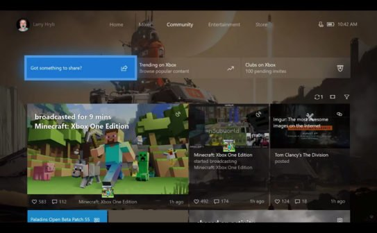 Xbox One Dashboard - Preview Herbst 2017