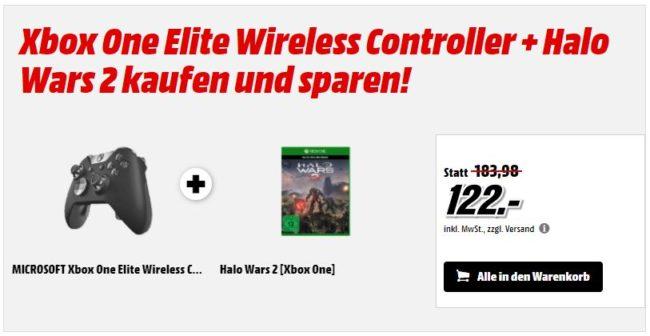 Xbox One Elite Wireless Controller + Halo Wars 2 für nur 122 Euro