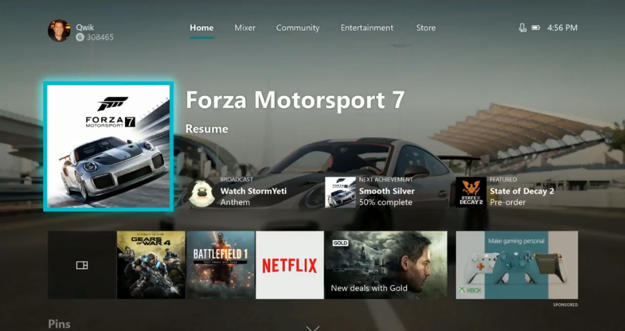 Xbox One Dashboard