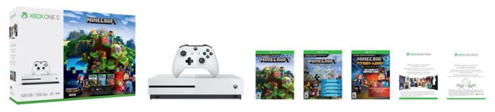 Xbox One S Minecraft Complete Adventure Bundle