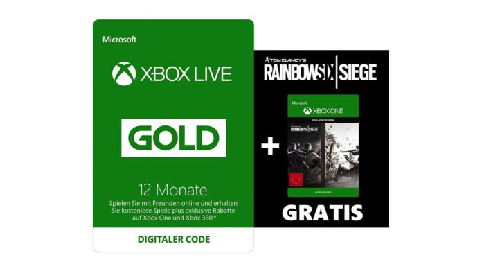 12 Monate Xbox Live Gold + Tom Clancy's Rainbow Six: Siege