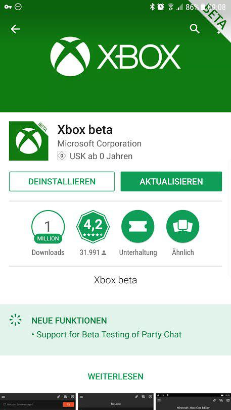 Xbox Beta App - Party Chat