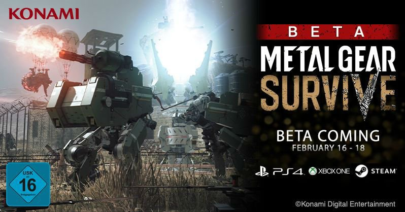 Metal Gear Survive: Zweite Open Beta angekündigt