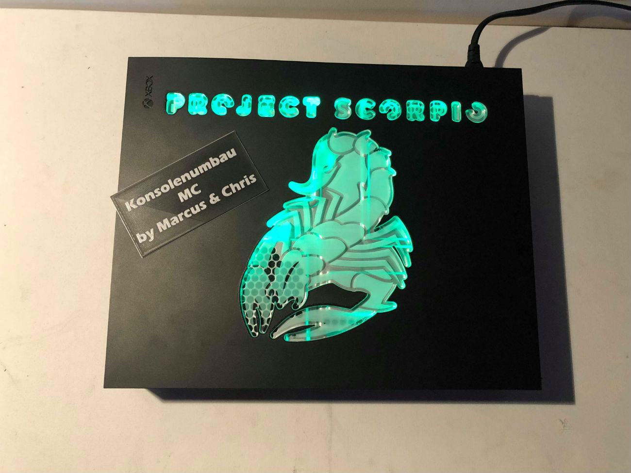 Xbox One X: Project Scorpio Acryl-Glas Mod