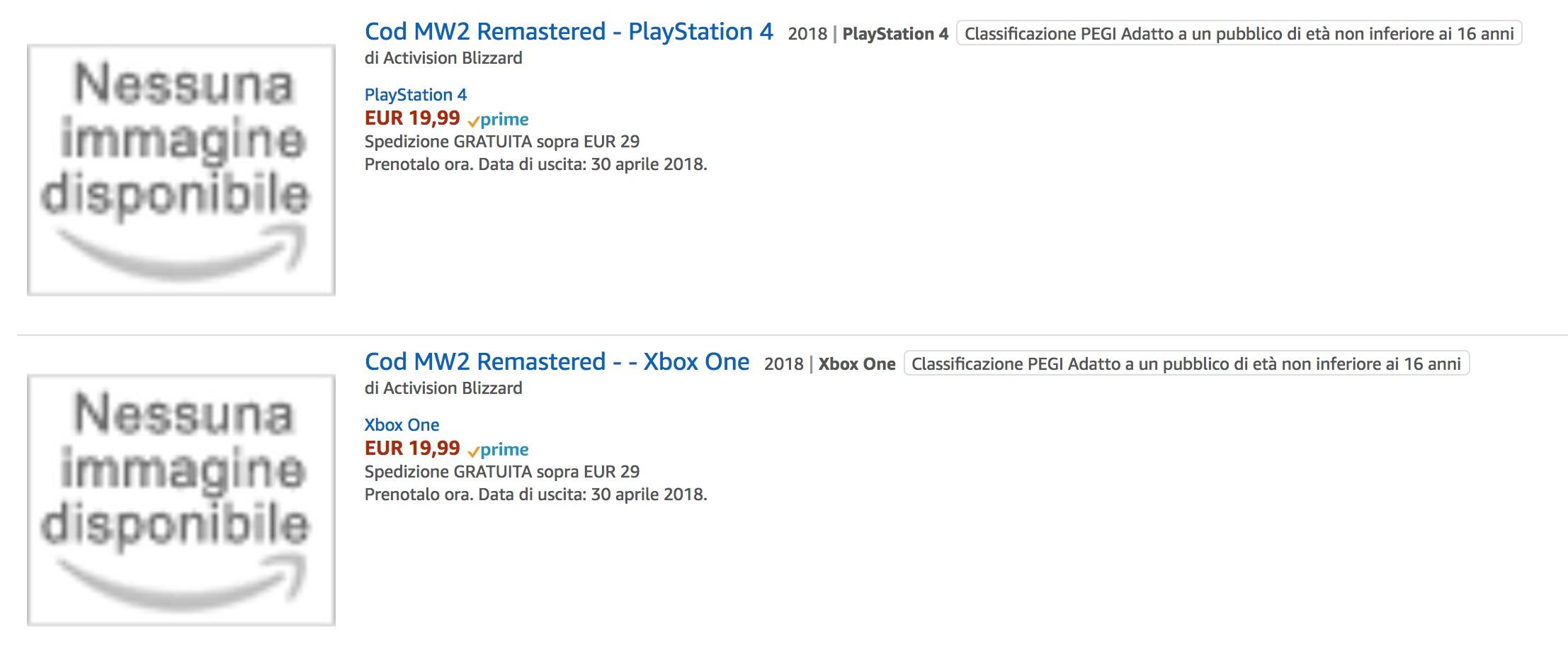 Call of Duty: Modern Warfare 2 Remastered - Amazon