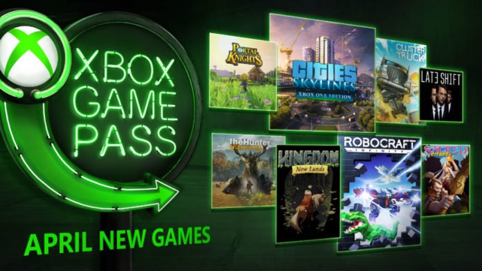 Xbox Game Pass - April 2018