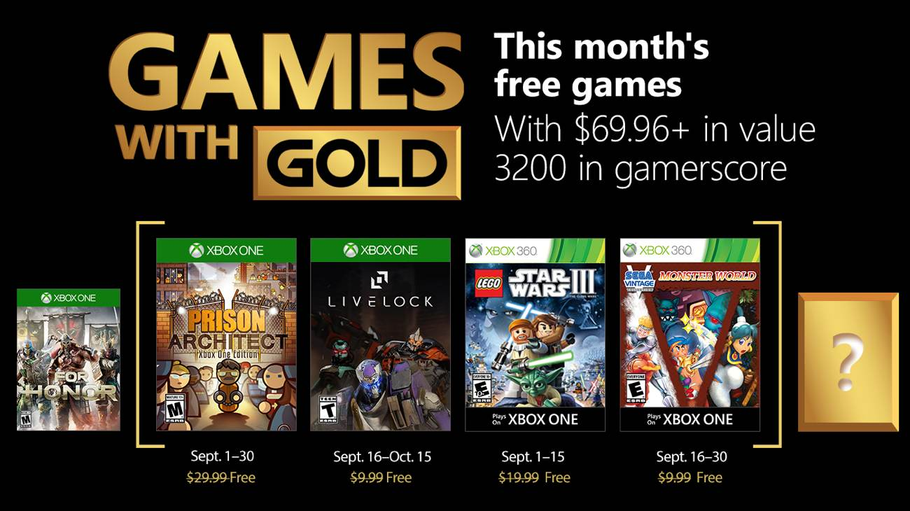 Games with Gold - September 2018