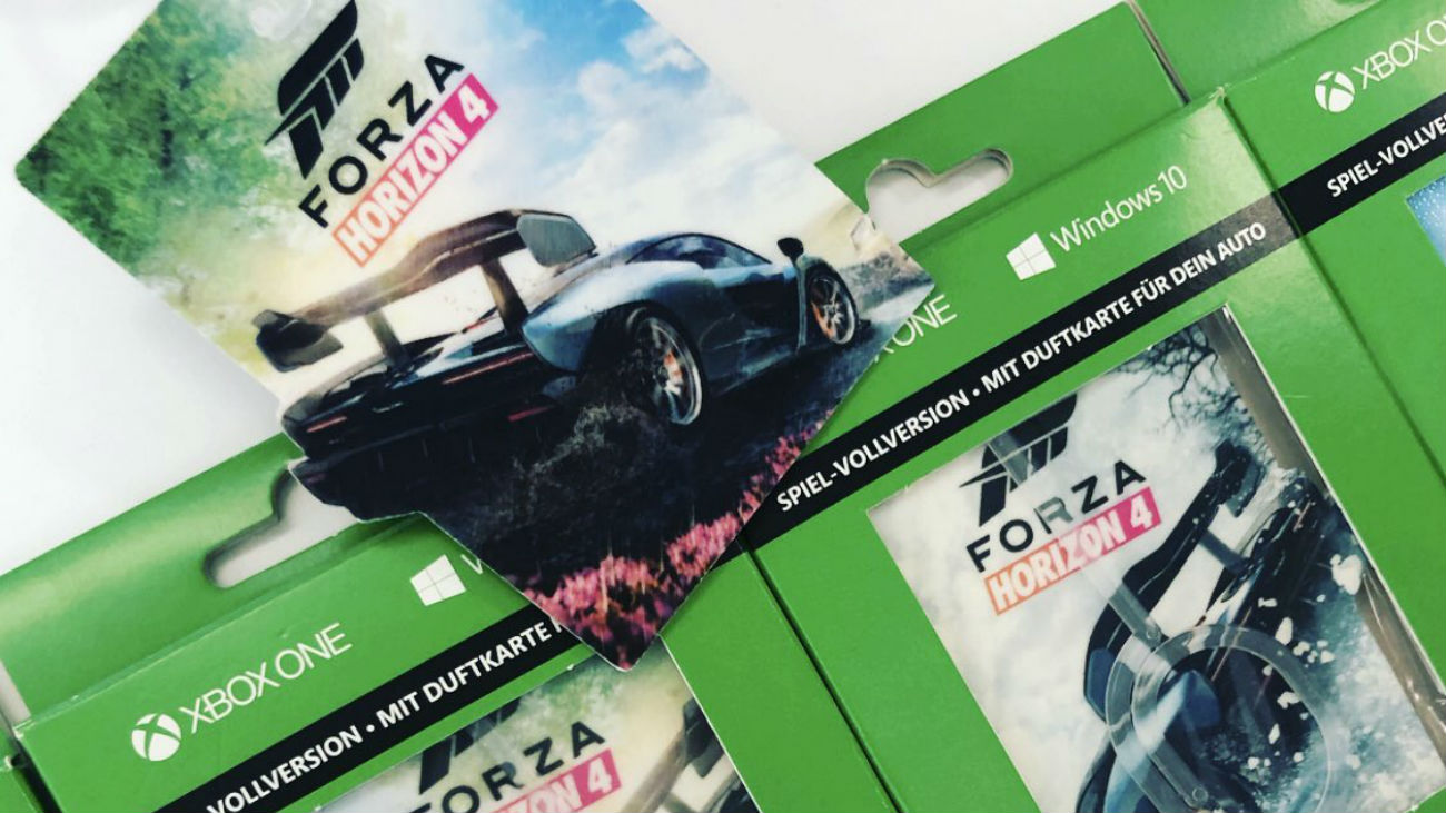 forza horizon 4 game code karten als duftbaum f r euer. Black Bedroom Furniture Sets. Home Design Ideas