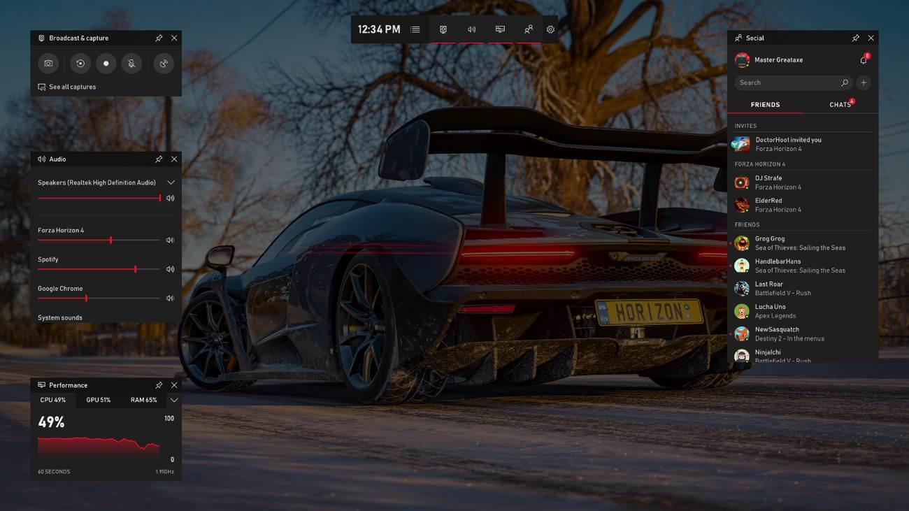 Game Bar Forza