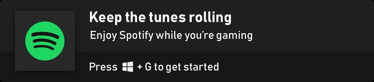 Game Bar Spotify