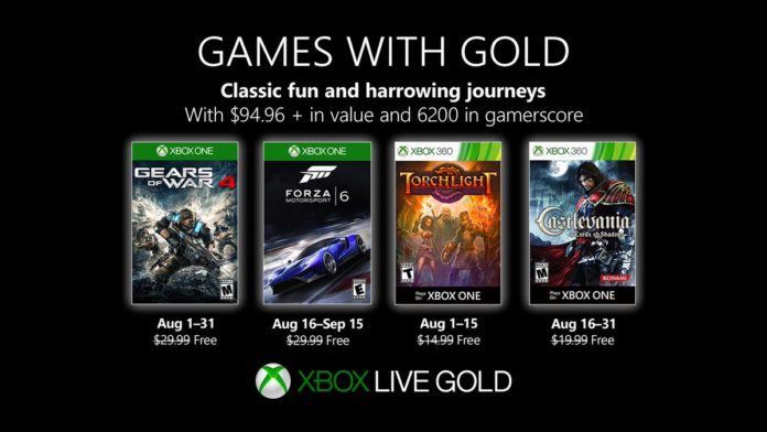 Games with Gold - August 2019