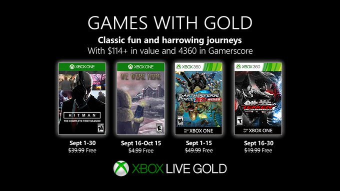 Xbox Gold Spiele September 2021