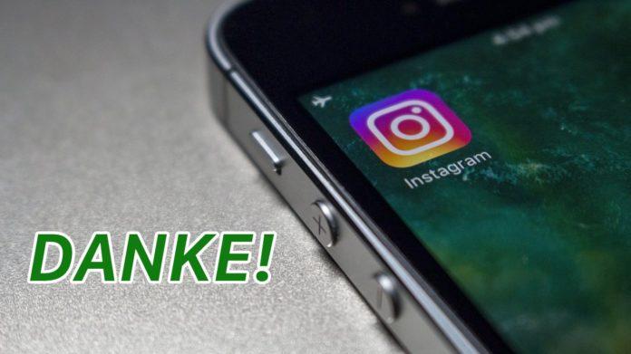 Instagram Danke