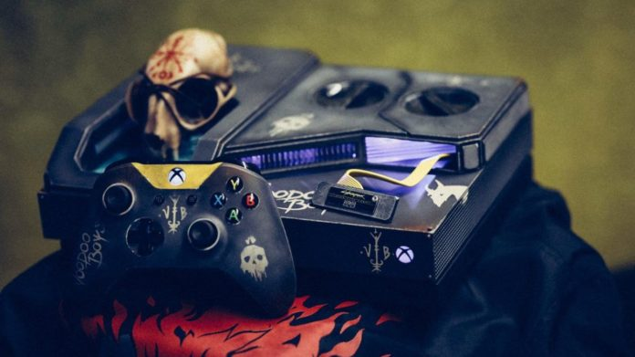 Xbox One X im Cyberpunk 2077 Design