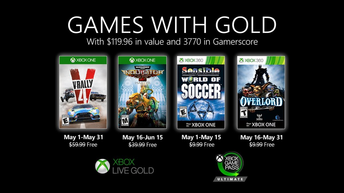 Games with Gold - Mai 2020