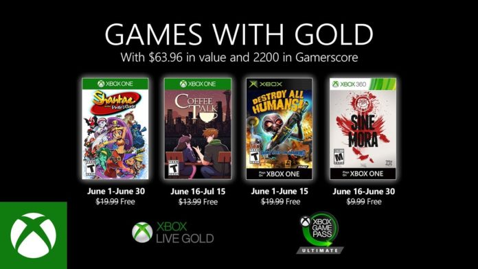 Games with Gold - Juni 2020