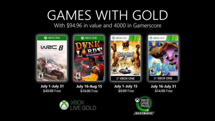 Games with Gold - Juli 2020