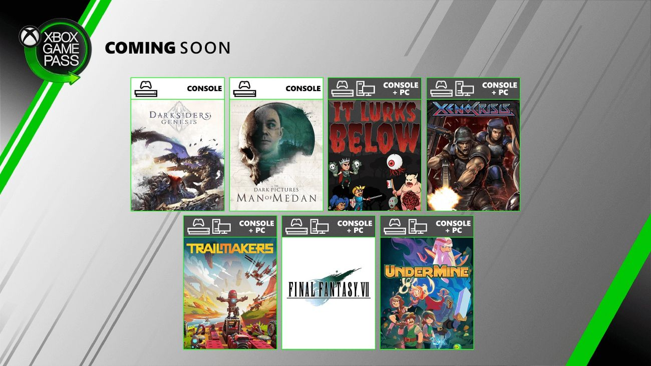 Xbox Game Pass - August 2020