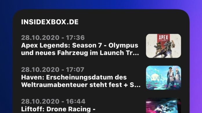 InsideXbox.de iOS Widget