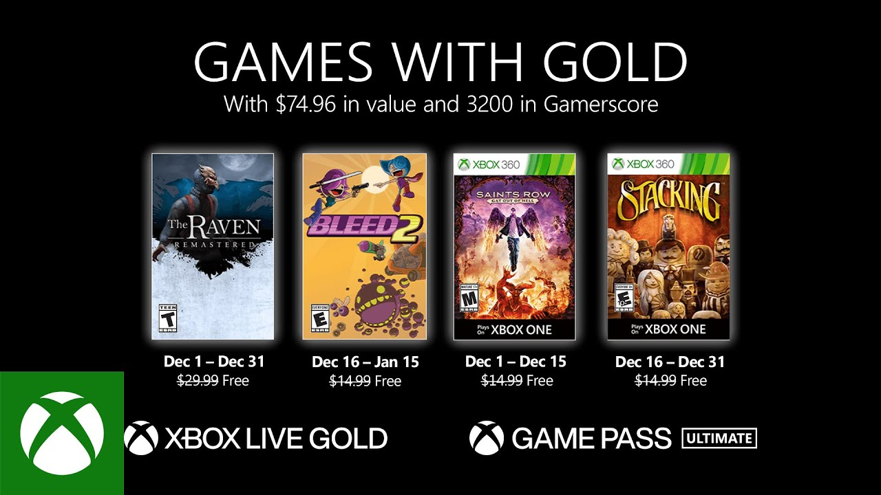 Games with Gold - Dezember 2020
