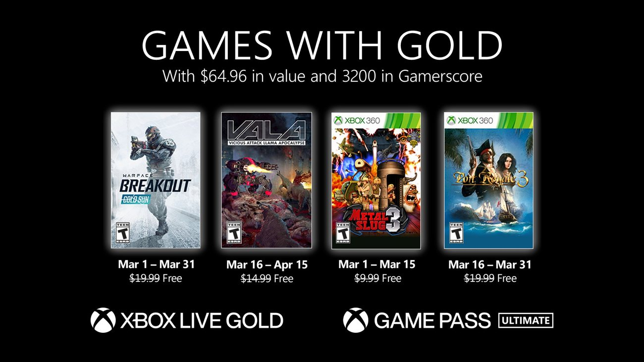 Games with Gold - März 2021