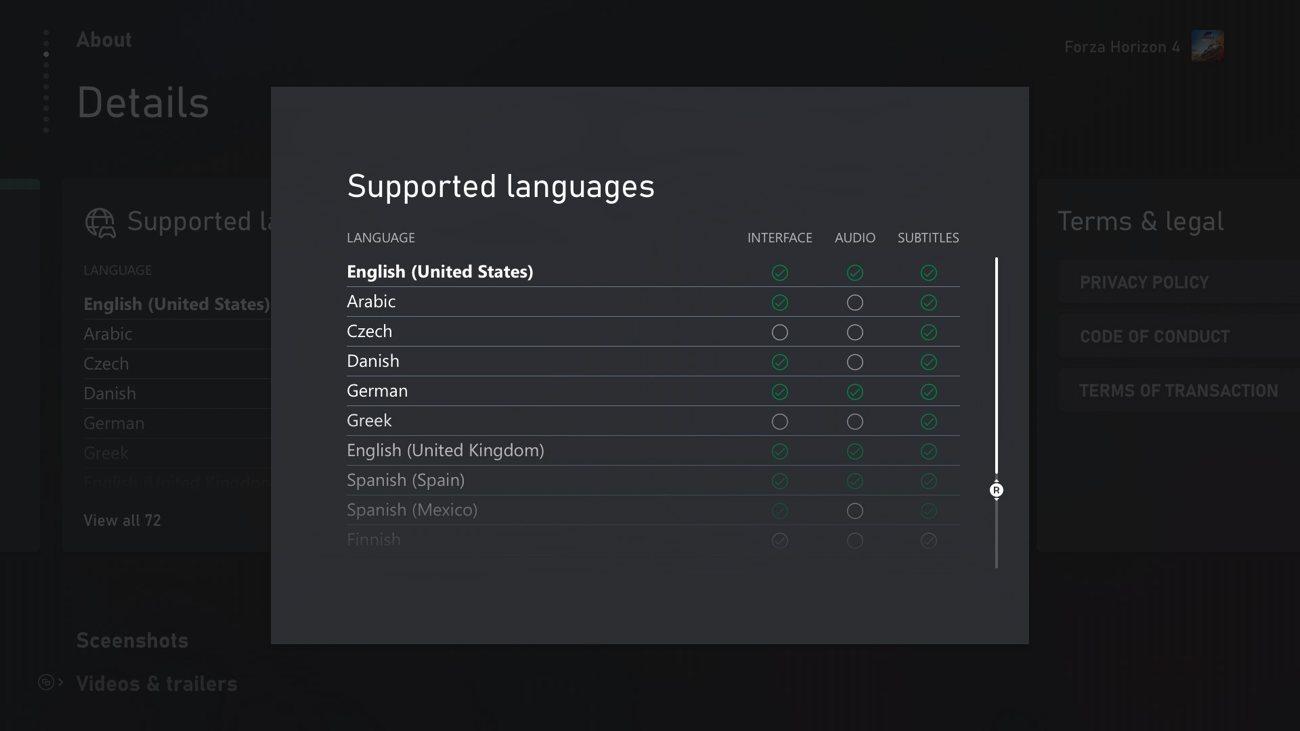 Microsoft Store - Sprachen