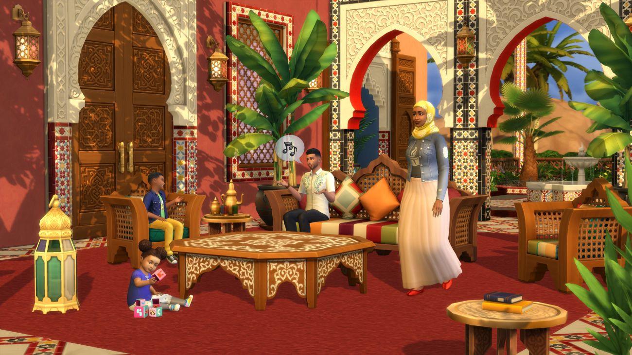 Die Sims 4: Innenhof-Oase-Set