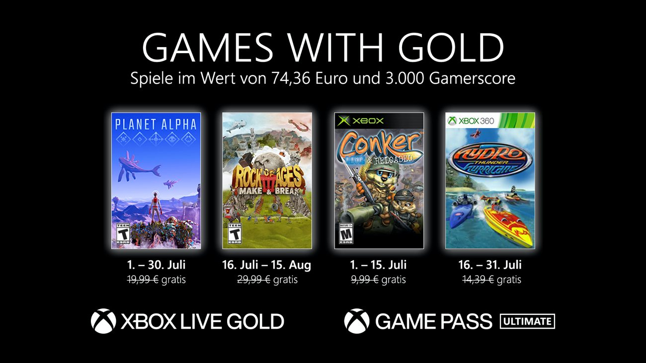 Games with Gold - Juli 2021 DE
