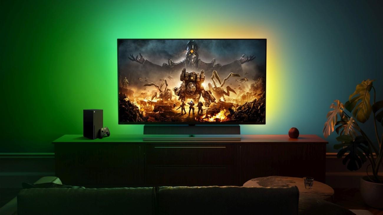 "Philips Momentum 55-Zoll-4K-""Designed for Xbox""-Konsolen-Gaming-Monitor"