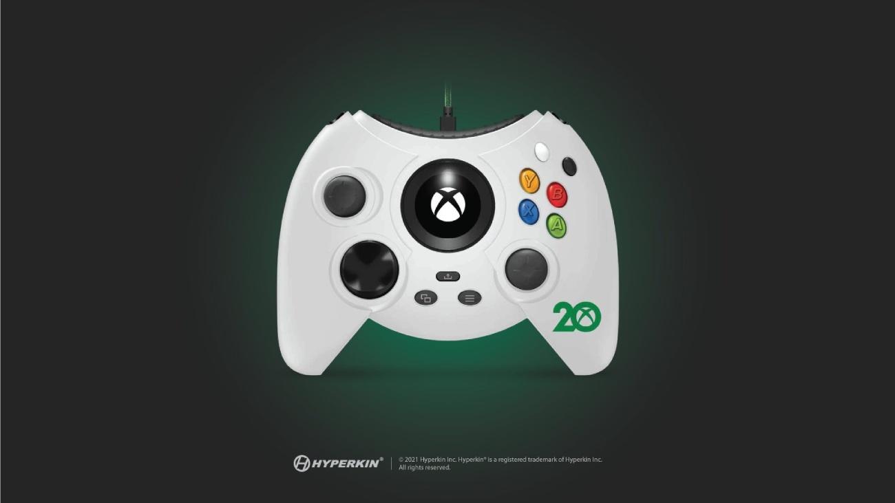 Hyperkin Duke Xbox 20th Anniversary Edition Controller in weiß