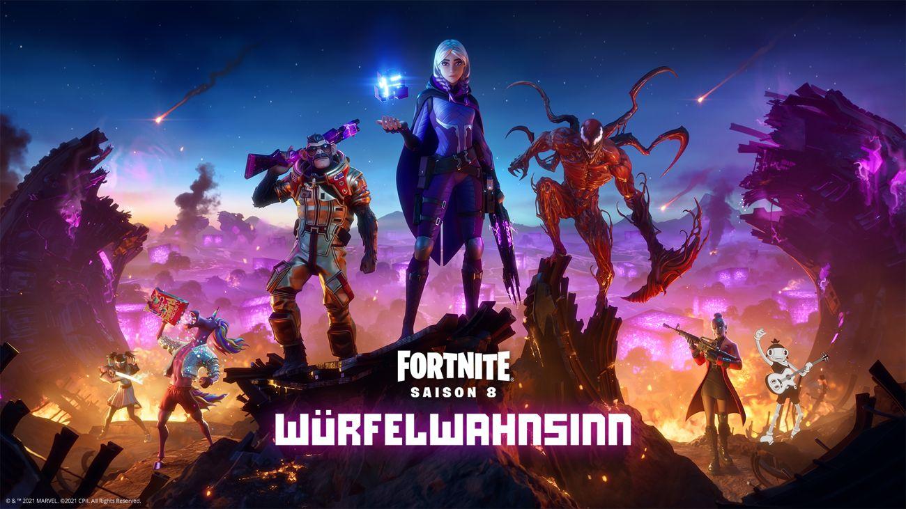 "Fortnite Battle Royale Kapitel 2: Saison 8 ""Würfelwahnsinn"""